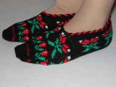 winter fashion home slippershouse shoesHand Knit by Istanbulcolors