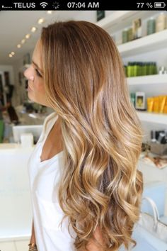 Caramel blonde!! This is my shade!! Except mine isnt that dark....