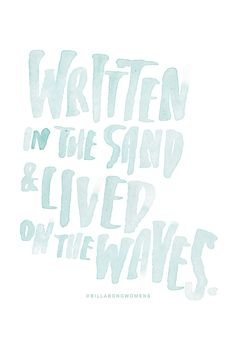 Written in the sand & lived on the waves || Billabong Womens
