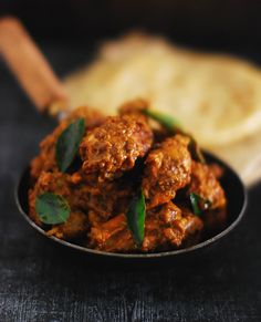 The chicken is marinated in a rich blend of spices and cooked in a well balanced masala and coated with the flavoured gravy in the end.