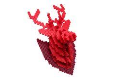 Tête de cerf  3D Perler Bead  Puzzle  Wall Decor par MIZGVUSdesigns