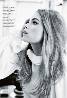 """Bombshell"" Doutzen Kroes by Ellen von Unwerth for Sunday Times December 2013"