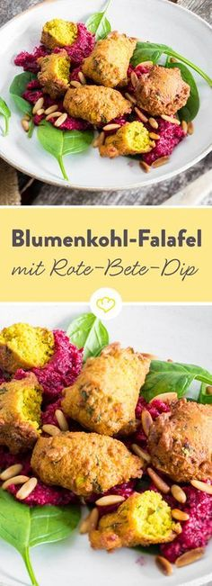 Blumenkohl statt Kichererbsen und Rote-Bete-Dip statt Hummus - vom Streetfood-Klassiker zum extravaganten Pausensnack.