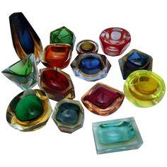 Vintage Ashtray, Vintage Glassware, Fenton Glassware, Modern Decorative Objects, Murano Glass Vase, Vaseline Glass, Venetian Glass, Antique Glass, Glass Collection