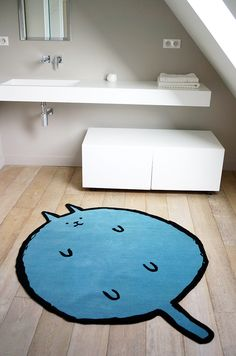 Cat rug by Jean Jullien