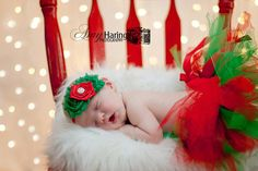 Photo idea for Christmas. Christmas Red and Green Tutu & Headband
