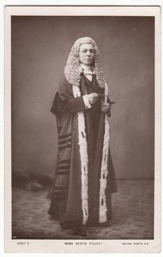 Old RP PC: Vesta Tilley as High Court Judge, 1905, Rotary Photo | eBay