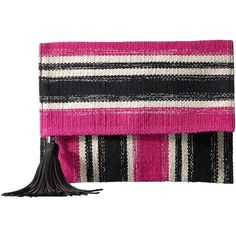 Rebecca Minkoff Serra Fold-Over Clutch (Pink Multi) (21.430 HUF) ❤ liked on Polyvore featuring bags, handbags, clutches, fold over purse, cotton purse, foldover clutches, pink handbags and pink purse