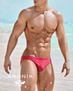 Dan Rockwell for Aronik swimwear Corps Parfait, Muscle Boy, Men's Swimsuits, Le Male, Hot Hunks, Muscular Men, Man Photo, Attractive Men, Male Beauty