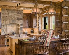 Kitchen Log Home Design, Pictures, Remodel, Decor and Ideas