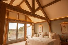 Case Study: Oak extension combines clean, architectural lines with natural warmth - Oakmasters House, Home, Cleaning, Windows, Chic Bedroom, Inspiration, Case Study, Oak, Rustic Bedroom