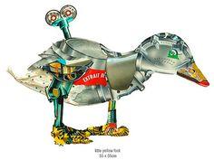Ilustración en collage, animales de PETER CLARK : ColectivoBicicleta | Revista digital /Artes visuales. ilustración y diseño Colombia y Latinoamerica