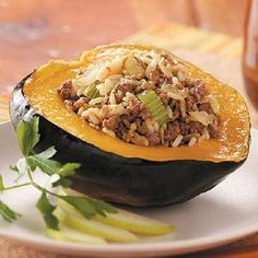 Stuffed Acorn Squash Recipe | Taste of Home Recipes