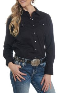 Ariat Women S Real Cavender S Exclusive Black Long Sleeve Western Shirt Cavender S Western Shirts Womens Shirts Clothes
