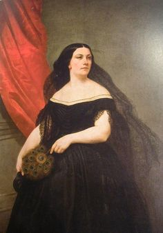 "Portrait of Italian soprano opera singer Giulia Grisi as Donna Anna in ""Don Giovanni"" (circa 1850)"" by unknown artist."