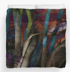 Funky Woods Duvet Cover - JUSTART on Redbubble #justart #redbubble #duvetcover #bedding #home #decor #wood #tree #abstract