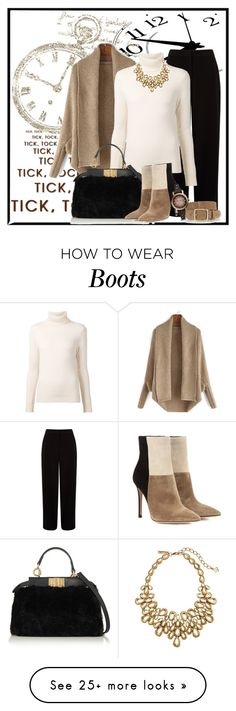 """""""Time for Boots"""" by trishica on Polyvore featuring Kin by John Lewis, Chloé, Fendi, rag & bone, Gianvito Rossi, Oscar de la Renta, FOSSIL and Boots"""