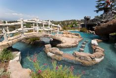 Holding more than 80,000 gallons of water, the Forgette family's fantasy pool features a lazy river, jacuzzi, multiple waterfalls and water-shooting cannons that will make any guest feel like they are escaping to their own private island.