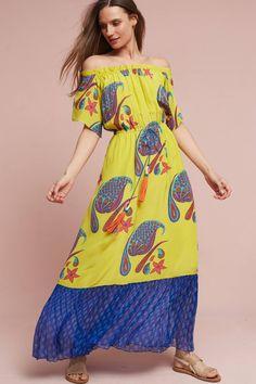 Slide View: 1: Mishti Silk Maxi Dress