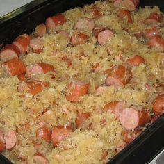 Polish Smoked Sausage and Sauerkraut Recipe - Recipe for Smoked Sausage and Kraut - Must Have Tailgating Food #EsuranceFantasyTailgate
