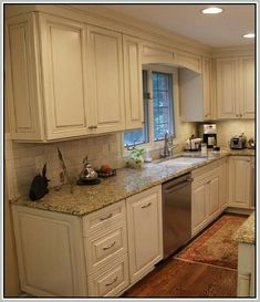 gl tile backsplash new venetian gold granite white cabinetry ... Avalon White Cabinets For Kitchen Backsplash Ideas Html on