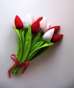 6 Tulpen nach Tilda Art Frühling Ostern Stoff
