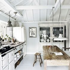 Check Out 30 Cool Rustic Scandinavian Kitchen Designs. Rustic style is very relaxing and reminds of countryside that's why more and more designers and house owners want to create it. Beach House Kitchens, Home Kitchens, Devol Kitchens, Kitchen Interior, Kitchen Decor, Kitchen Modern, Kitchen White, Kitchen Ideas, Kitchen Rustic