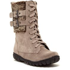 Bucco Phineas Faux Fur Lace-Up Boot ( 23) ❤ liked on Polyvore Stivali 2152ad7d0b62