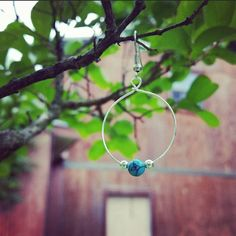 Hey, I found this really awesome Etsy listing at https://www.etsy.com/listing/233425885/turquoise-hoop-earrings