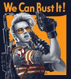 Rosie the Riveter, Ghostbusters edition / Boing Boing Rosie The Riveter, Blade Runner, Lito Rodriguez, Die Geisterjäger, Ghostbusters 2016, Female Ghostbusters, Ghostbusters Costume, Star Trek, Cinema
