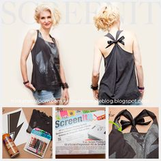 DIY a Rock Chick T-Shirt. Easy step by step Tutorial.  Design by iLoveToCreate Blog.
