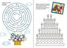 Bartos Erika honlapja - BOGYÓ ÉS BABÓCA FOGLALKOZTATÓ Learning Activities, Kids Learning, Diy For Kids, Crafts For Kids, Diagram, Printables, Teaching, Maze, Colouring