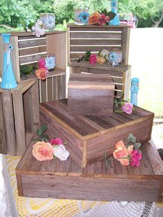 Rustic Cupcake stand wedding decorations by primitivearts on Etsy & Cupcake Stand DIY Of course we would cover this in something pretty ...