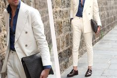 The exotic chic: discover our total white look for men.