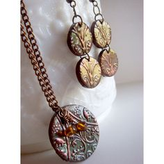 Polymer clay jewelry set #diy #jewelry #polymer #clay #pretty #nice #fashion #trendy #style #accesories #earrings #pendant