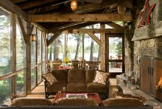 Rustic Porch Furniture - When people pass through the house, one thing that stands out and draws them, is how the terrace is decorated. Cabin Design, Rustic Design, Ideas De Cabina, Rustic Italian Decor, Veranda Design, Terrace Design, Traditional Porch, Cabin Porches, Rustic Porches