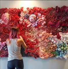 """Philadelphia area artist Kate Leibrand creates textile-based artwork that is mesmerizing with its large-scale repetitious patterning. Using mostly felt, Leibrand's labor-intensive process..."