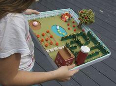 Make a Corn Maze Marble Run