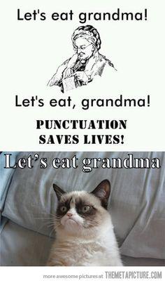 Let's eat grandma…Grumpy Cat style