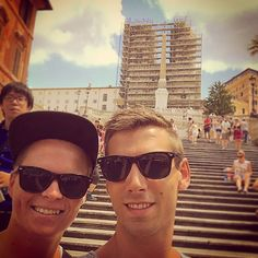 The boyfriend and I infront og The Spanish steps