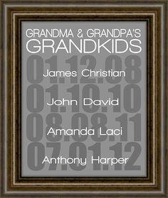 "Gift For Mom - Grandparent gift - Gifts for Mom - Mothers Day - Grandparent Print - Grandparents Day -  8X10"" Print"
