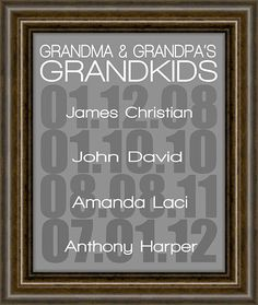 "Gift For Mom - Grandparent gift - Gifts for Mom - Mothers Day - Grandparent Print - Grandparents Day -  8X10"" Print"