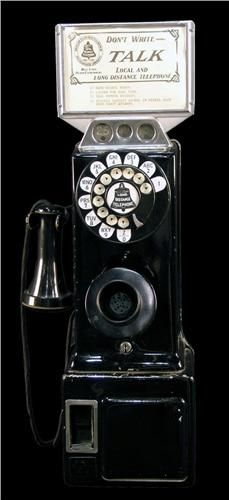 1920's Pay Telephone black Repinned by www.silver-and-grey.com
