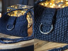 Easy knitting: a small evening bag in moss stitch - Hélène bricolage