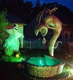 Nightmare before Christmas fountain for home haunt by Sue Roberts.