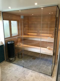 Home Spa Room, Spa Rooms, Sauna Steam Room, Steam Bath, Quonset Homes, Sauna Design, Saunas, Outdoor Living, House Design