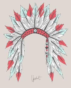 native american headdress design at society6