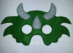 3 Horned Triceratops Dinosaur Felt Mask for Fancy Dress Up Pretend Play Birthday Party Celebration Theme Favor by AHeartlyCraft on Etsy