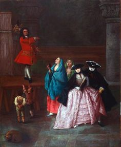 Pietro Longhi (Italian, 1702–1785), A Theatrical Performance, 18th century. Oil on canvas. Gift of Kathryn Bache Miller. 1964.72