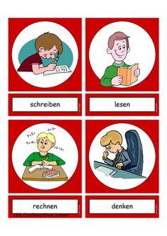 Flashcards_Verben_In der Schule_1_mittel